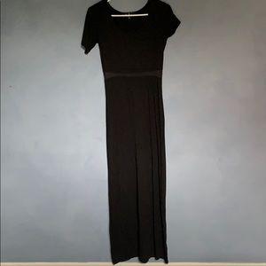 Lulus Mesh Inset Maxi dress with slit